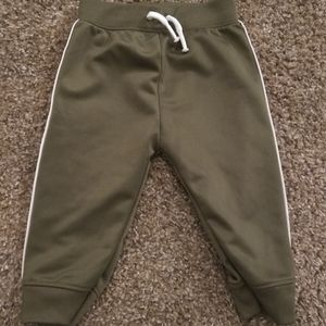 Infant green track pants